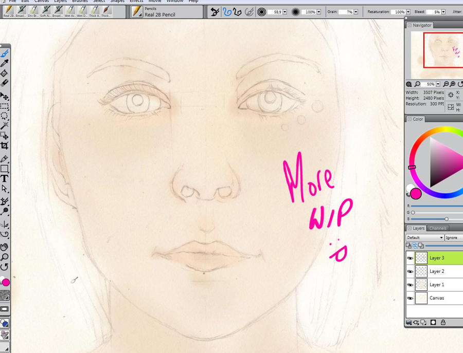 Girl WIP by RobynTrower