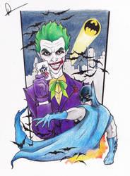 Batman and Joker Tattoo design