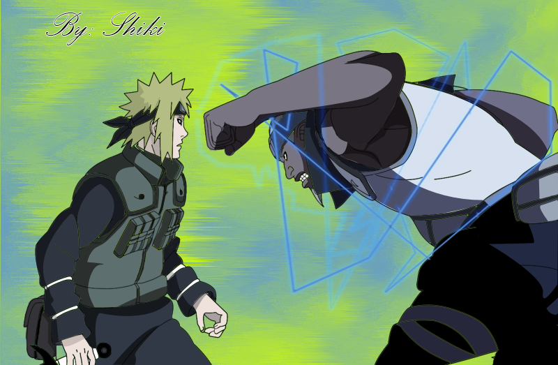 Dibujos Mangas [S]hiki Yondaime_vs_raikage_by_shikirayleigh-d4k6hsp