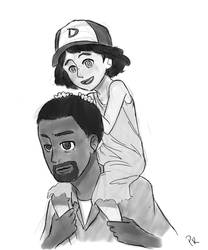 Lee and Clementine by PenroseRunner