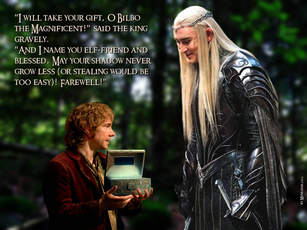 King Thranduil named Bilbo Elf-friend