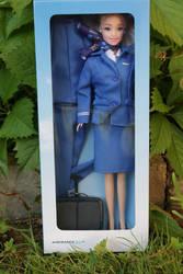 Airfrance KLM stewardess doll by Menkhar