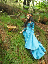 Mushrooming in elven wood by Menkhar