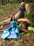 Mushrooming in elven wood 2 by Menkhar
