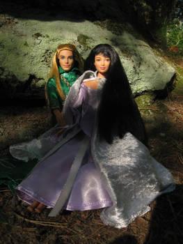 Legolas and Leiniel in Eryn Lasgalen