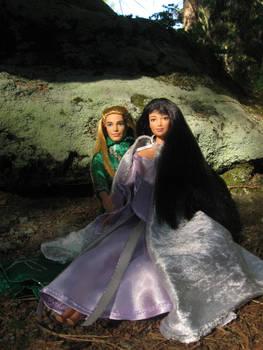Prince Legolas and Leiniel in Eryn Lasgalen 2