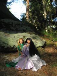 Prince Legolas and Leiniel in Eryn Lasgalen 3