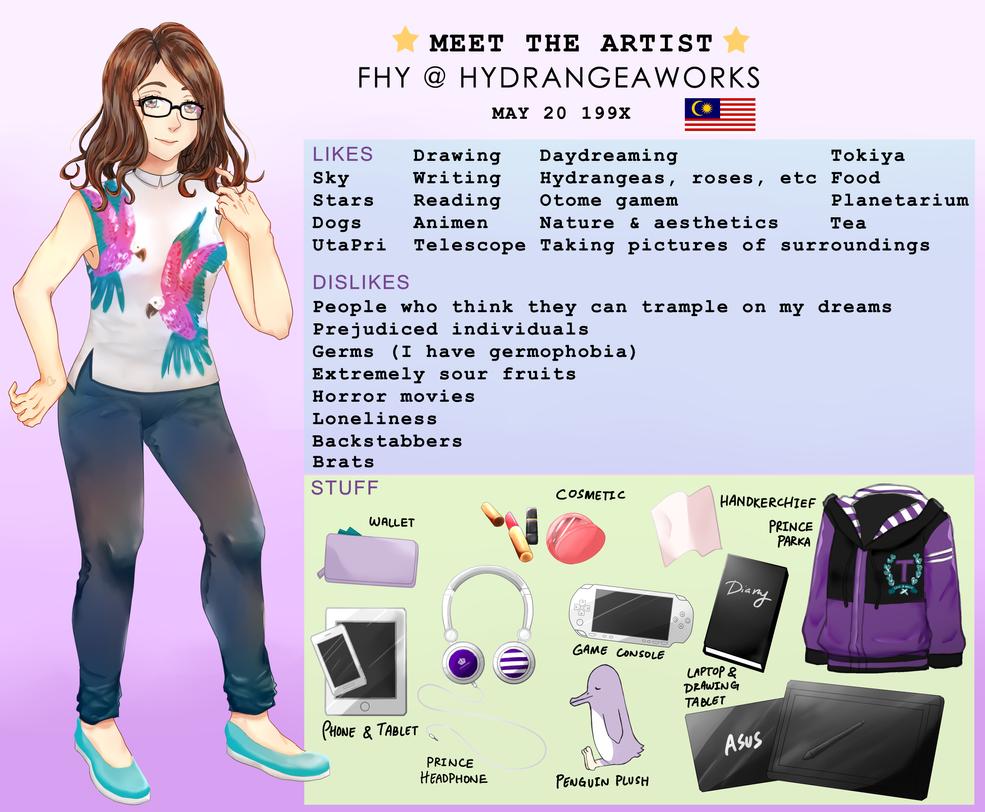 Meet The Artist~ by Hydrangeaworks