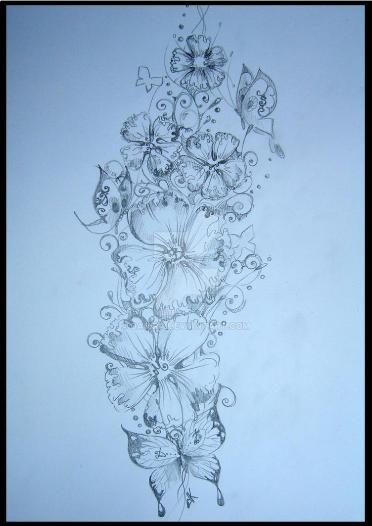 Flower design tattoo by Danira on DeviantArt