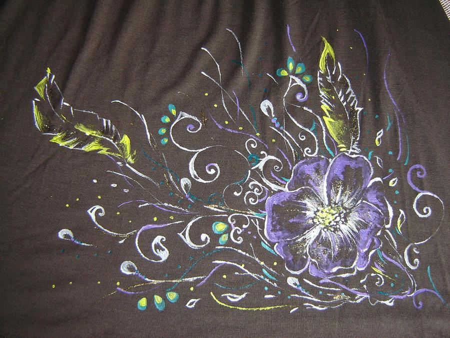 Dress flower painting by Danira