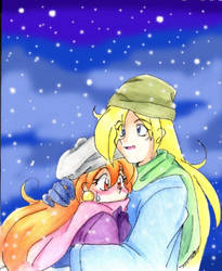 in the snow by Zeras-art