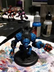 Blue Robot/golem by 8one6
