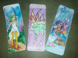 Bookmarks: Secret Faerys set 2 by Linnzy