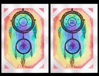 Dreamcatcher - Rainbow by Linnzy