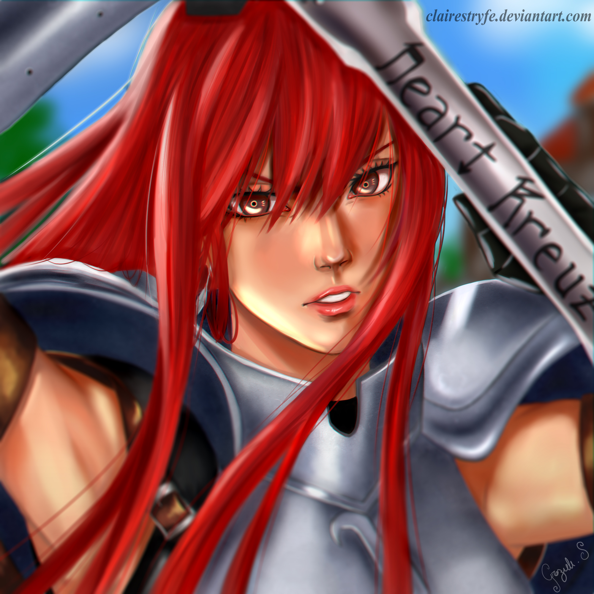 Erza Scarlet Wallpaper: Erza Scarlet By ClaireStryfe On DeviantArt