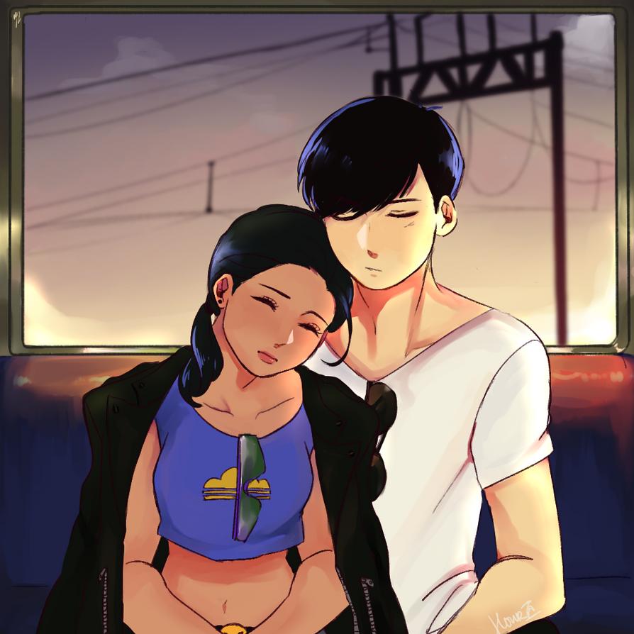 [ Osomatsu-san ] The Train Ride Home by Hourglass34
