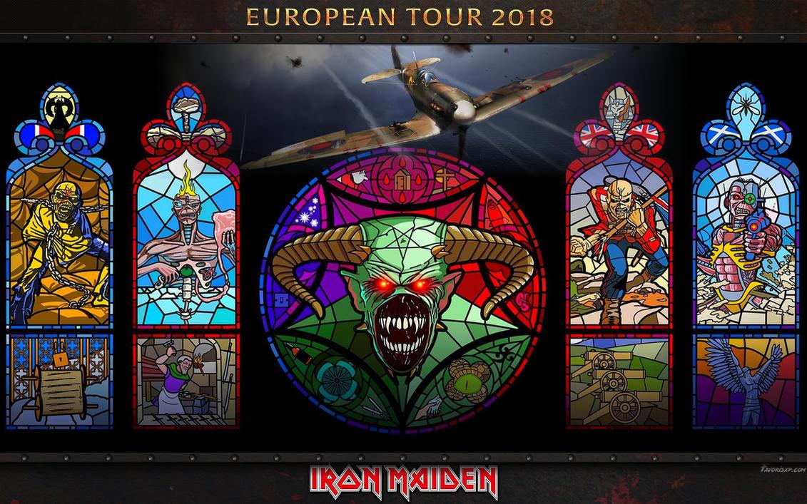 Iron Maiden European Tour 2018 Wallpaper by favorisxp