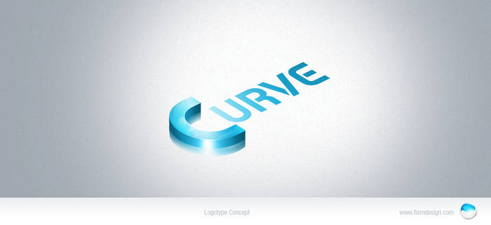 Curve logo concept