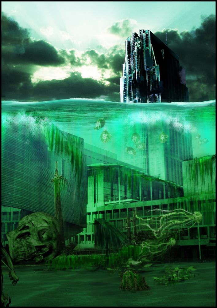 Underwater Rotterdam by necrosage