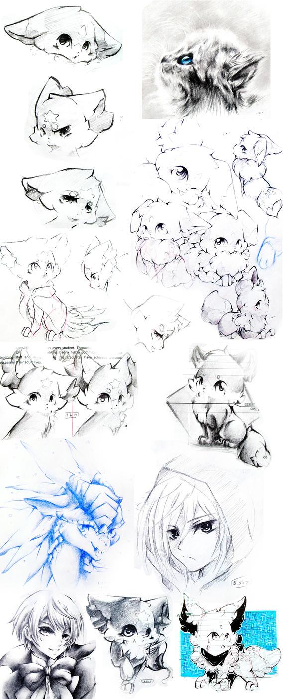 Sketchdump 1 by Silver-Artemis-Moon