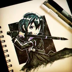 Inktober 6 .:Sword:. by Silver-Artemis-Moon