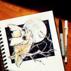 Inktober 8 .:Crooked:. by Silver-Artemis-Moon
