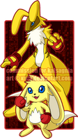 COMM: Golden Rabbits by xuza
