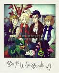Boys with Birds by xuza