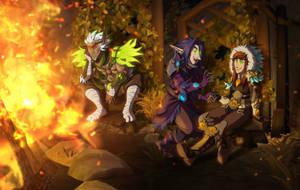 Campfire by xuza