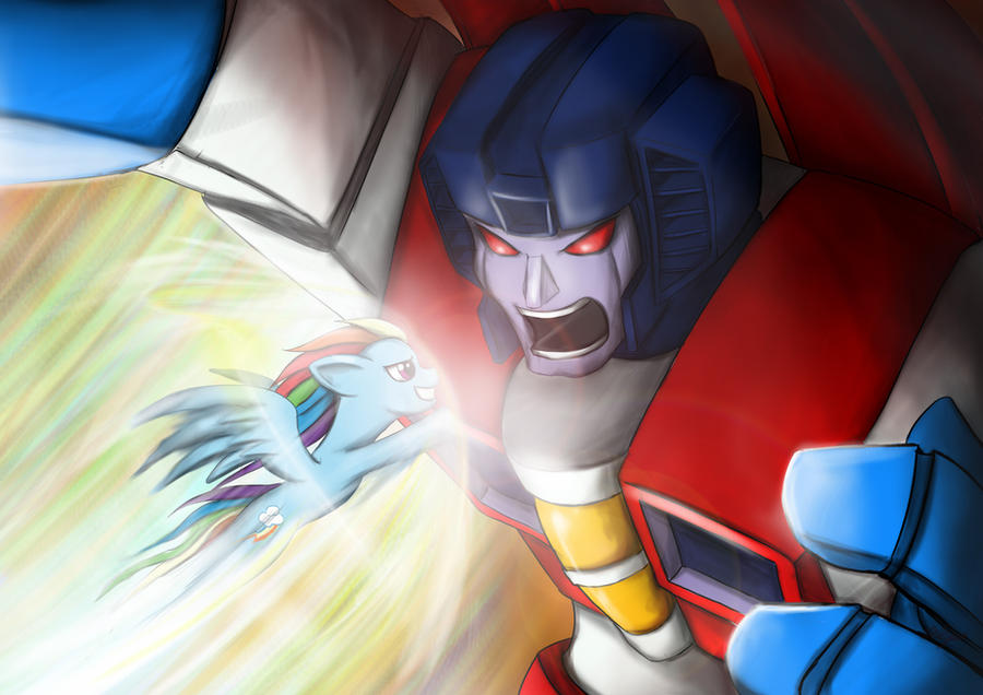 Death Battle: Starscream vs Rainbow Dash by DotWork-Studio