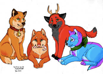 natsumewolf's free line art by ShadedMoons