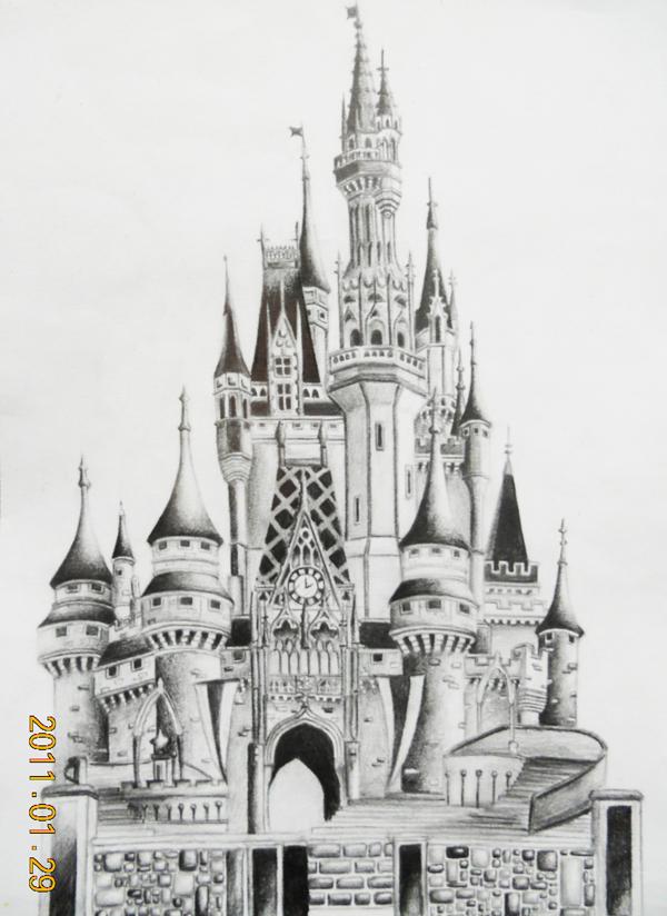 Disneyland Castle By Miki Squeak