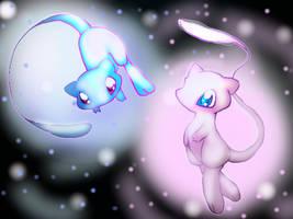 My two Mew by RikkuEst