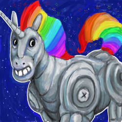 Robot Rainbow Unicorn Attack by Polysics