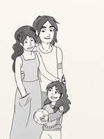 Theo, Kada, and Credenza by Joy-horses