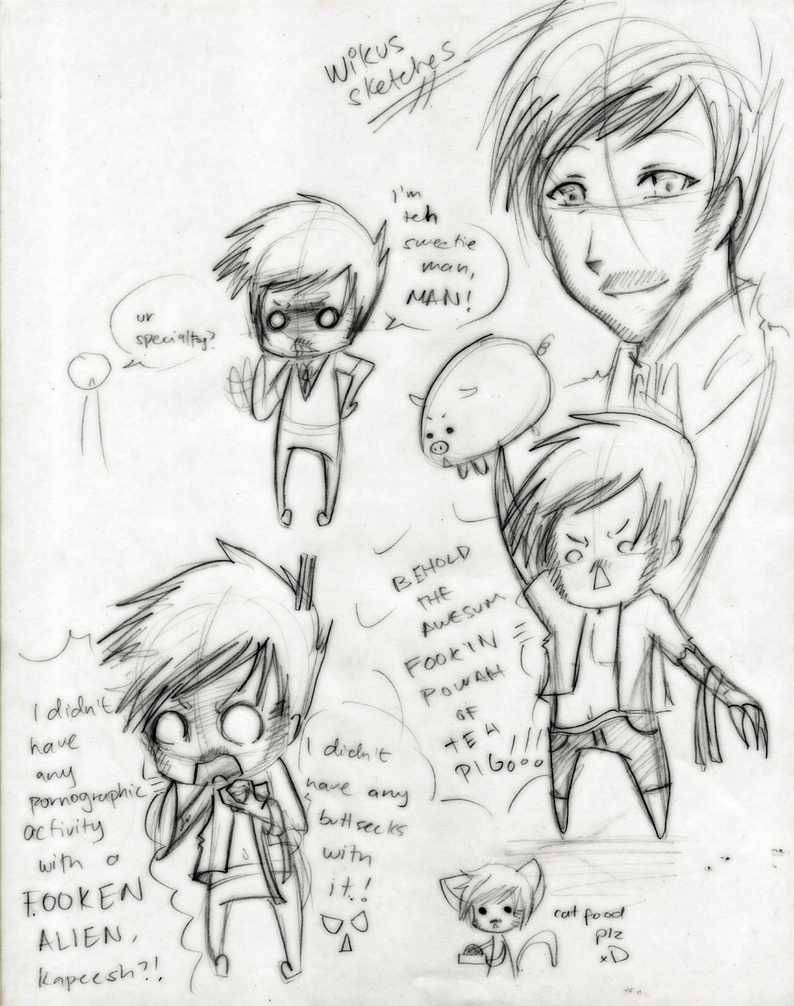 D9: Wikus sketches by theREDspy