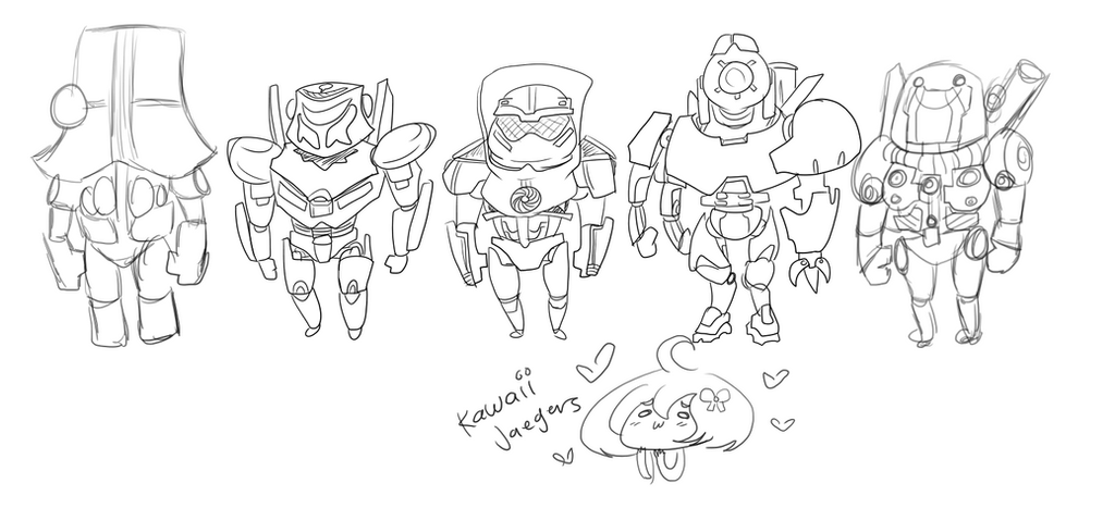 Pacific Rim: Kawaii Jaegers WIP by theREDspy on DeviantArt