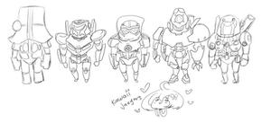 Pacific Rim: Kawaii Jaegers WIP