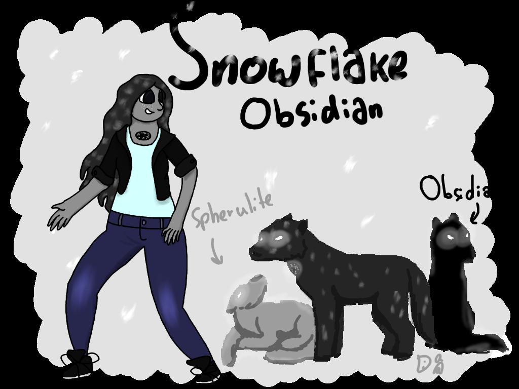 snowflake obsidian gemsona by - photo #16