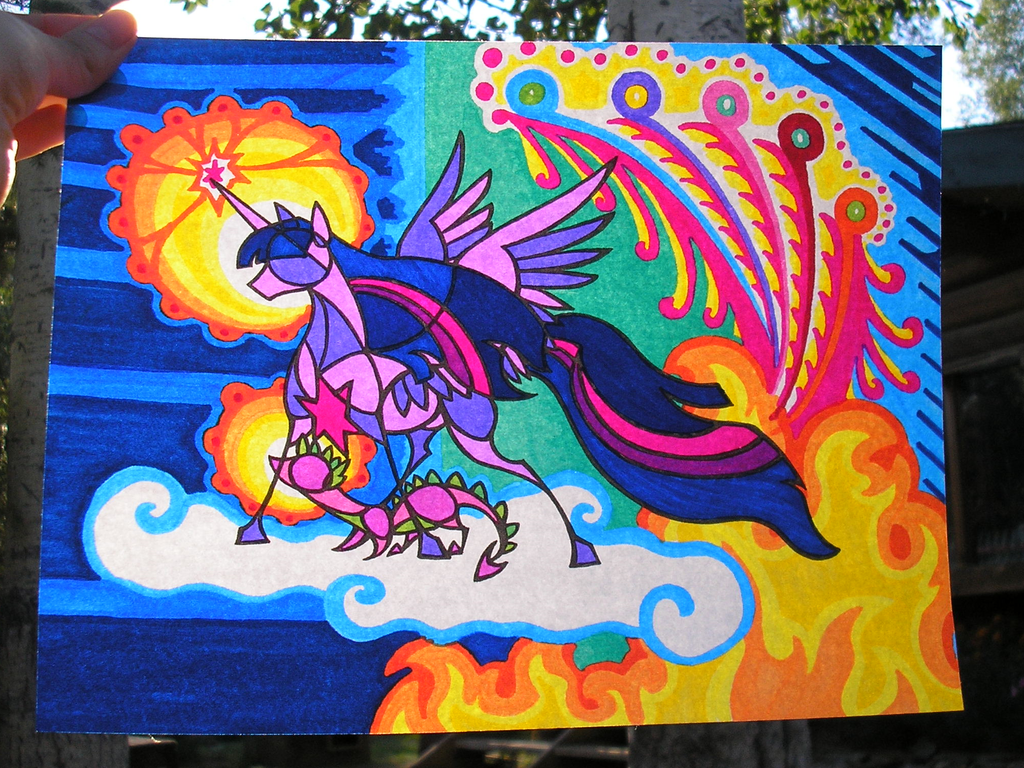 Stained Glass Twilight Spike color photo by FoldawayWings