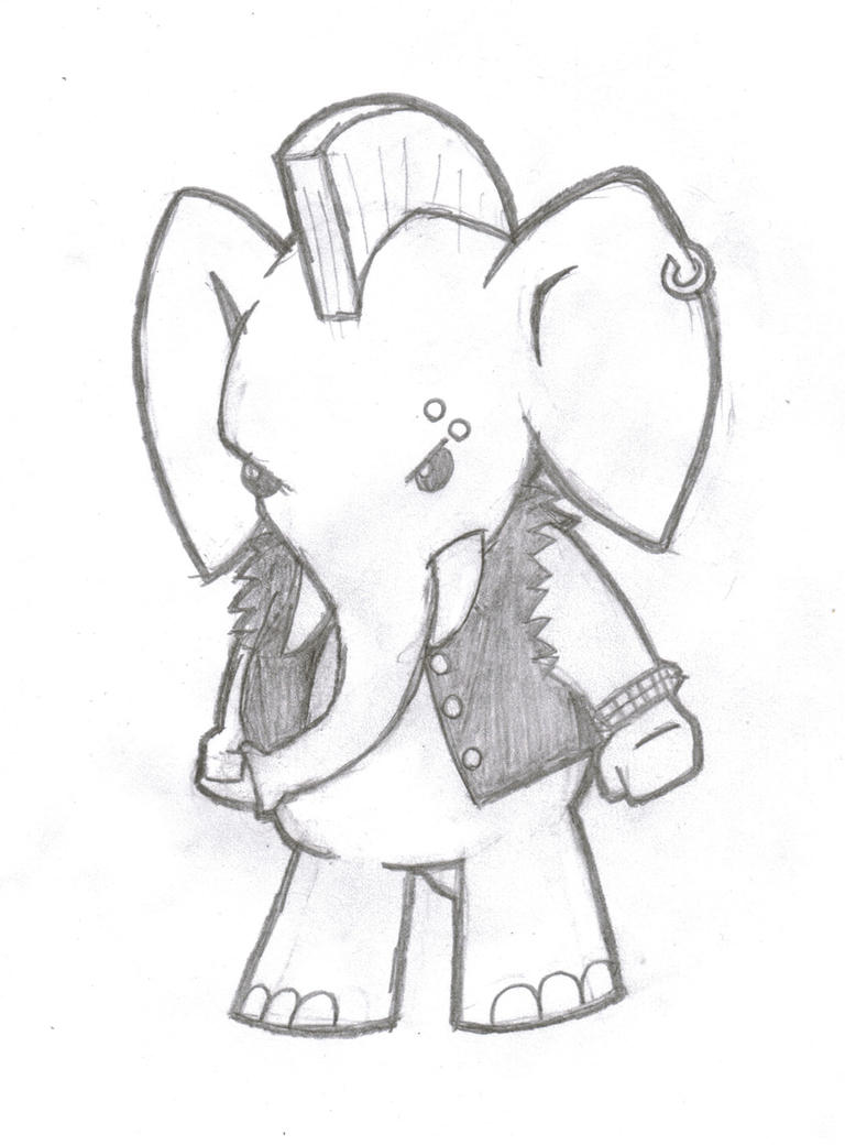 Punk Elephant by drchipohpoh