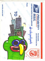 Cityface vfdn usps sticker by drchipohpoh