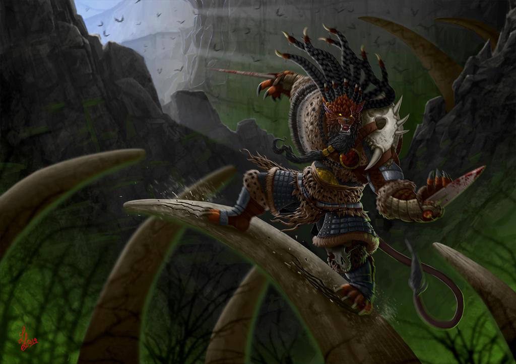 League of Legends - Scar Rengar by StudioFezilla on DeviantArt