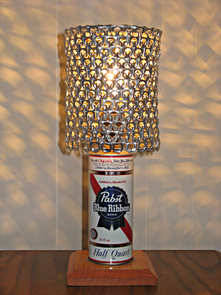Vintage PBR Pabst Blue Ribbon Beer Can Lamp by ...