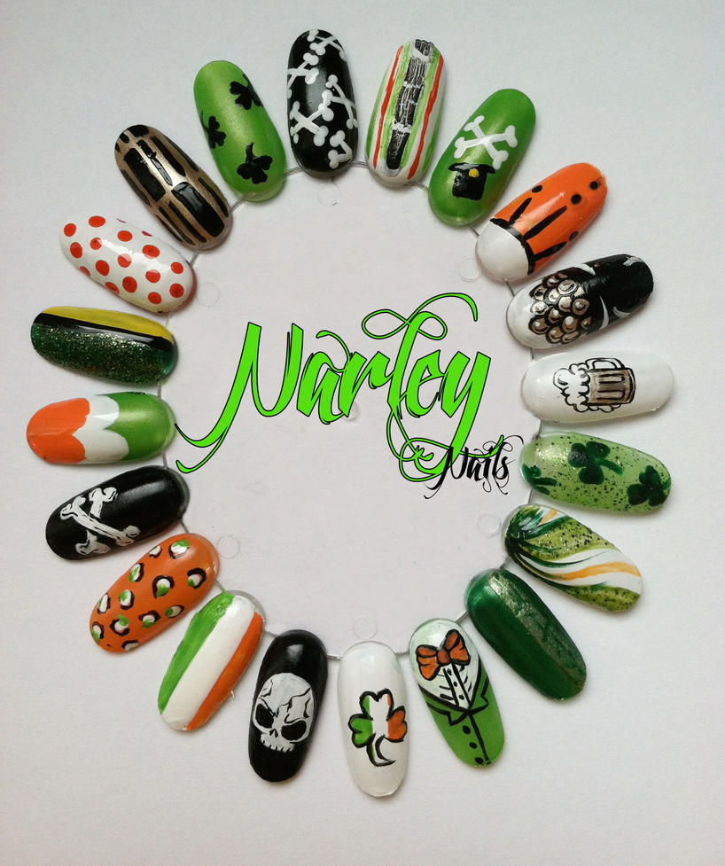 St. Patricks Day Nail Wheel by NarleysZone on DeviantArt