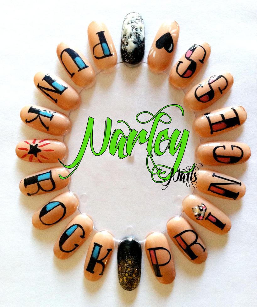 Knuckle Nail Art Wheel By Narleyszone On Deviantart