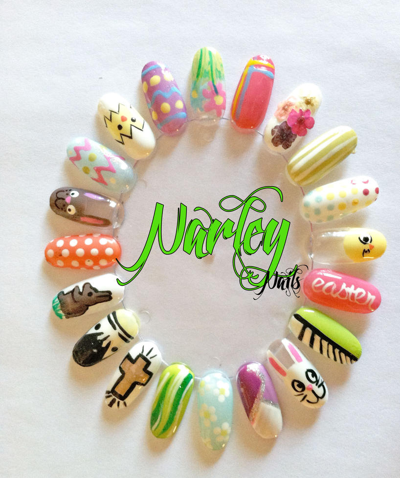 Easter Nail Art Wheel by NarleysZone on DeviantArt