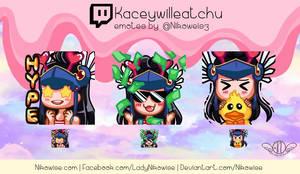 Commission- Twitch Emotes- Kaceywilleatchu