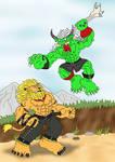 Leomon vs. Ogremon