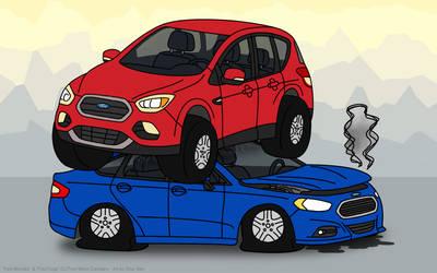 Suv Kills Car by napalmhonour